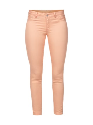 Coloured Jeggings mit Stickereien Rosé - 1