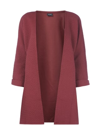 Longcardigan aus Sweat mit Steppmuster Rot - 1