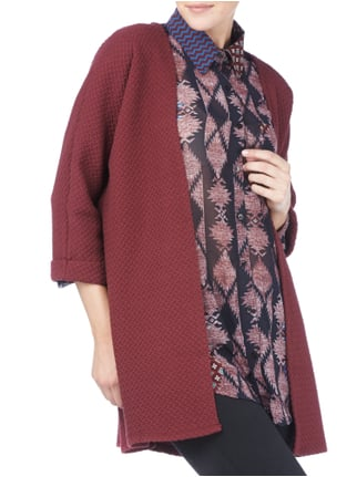 Vila Longcardigan aus Sweat mit Steppmuster Bordeaux Rot - 1
