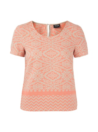 Shirt mit eingewebtem Ethno-Muster Orange - 1