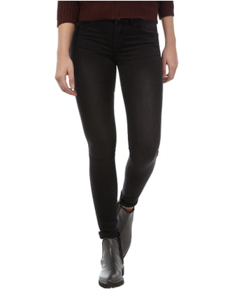 Vila Skinny Fit Jeans aus Coloured Denim Schwarz - 1