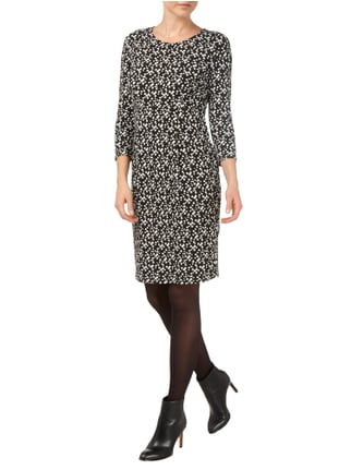 Weekend Max Mara Kleid mit Allover-Muster in Grau / Schwarz - 1