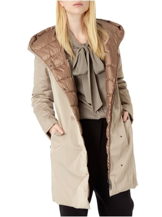 Weekend Max Mara Light-Daunen Wendemantel mit Kapuze Taupe - 1