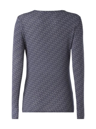 Weekend Max Mara Shirt mit Allover-Muster Marineblau - 1