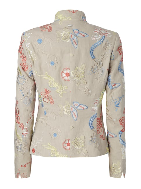 White Label Blazer mit Stickereien Sand - 1