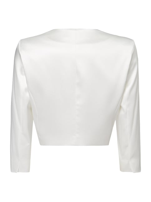 Young Couture Cocktailjacke aus Satin Offwhite - 1