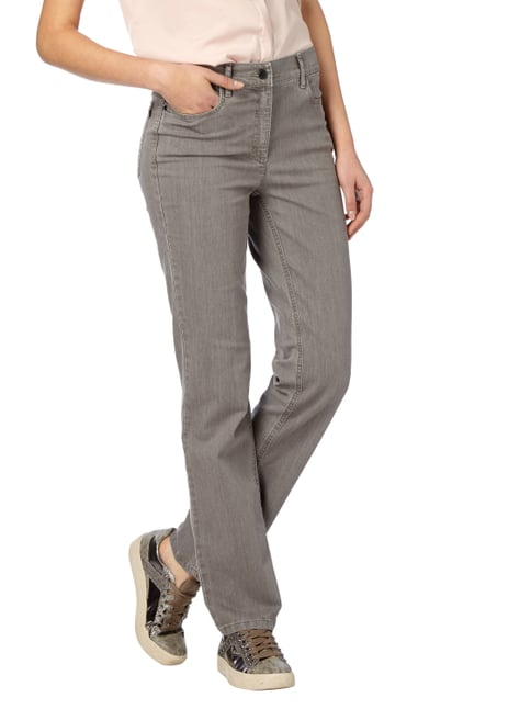 Zerres Coloured Comfort Fit 5-Pocket-Jeans Taupe - 1