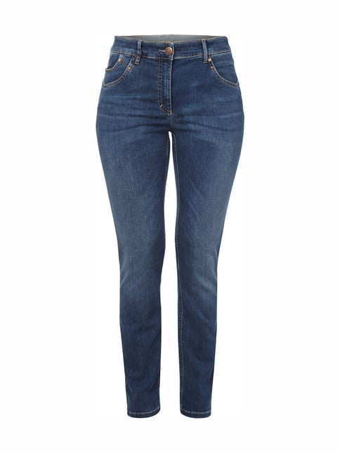 Stone Washed Comfort S Fit Jeans Blau / Türkis - 1