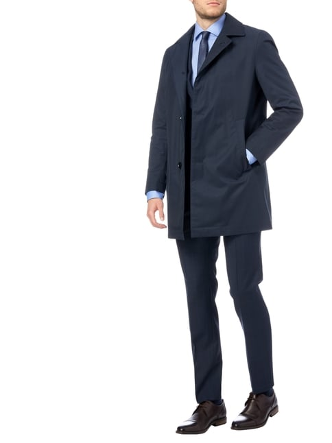 Boss Slim Fit Business-Hemd mit Webmuster in Blau / Türkis - 1