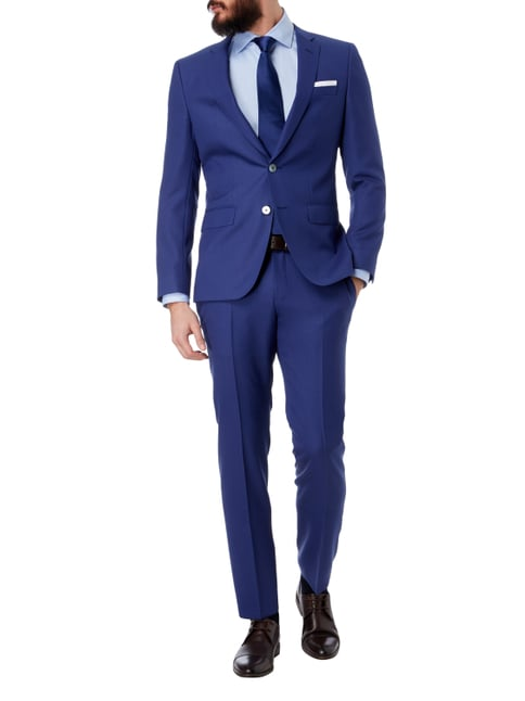 Boss Slim Fit Business-Hemd mit Haifischkragen in Blau / Türkis - 1
