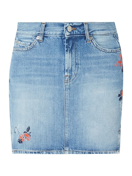 7 for all mankind 5-Pocket-Jeansrock mit floralen Stickereien Blau   Türkis  - b3b86157b2