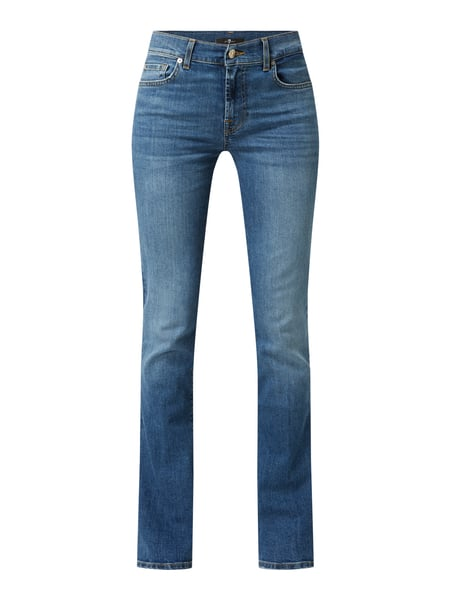 7 For All Mankind Bootcut Jeans mit Stretch-Anteil Modell 'Soho Light' Blau - 1