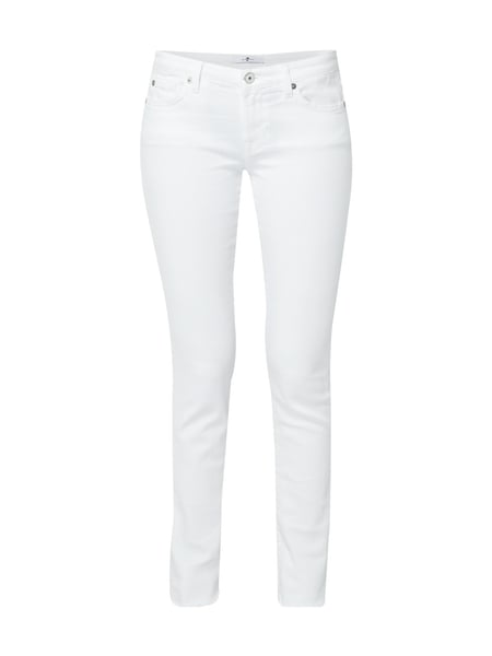 7 for all mankind Pyper - Coloured Skinny Fit Jeans Weiß