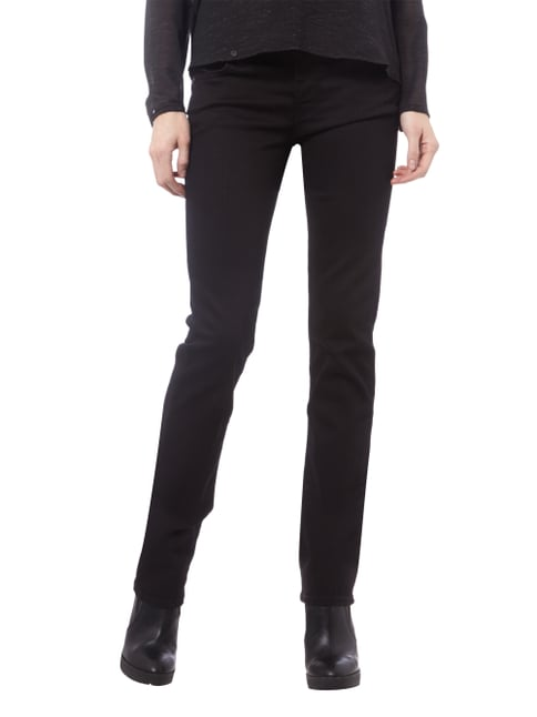 7 for all mankind Coloured Straight Fit Jeans Schwarz - 1