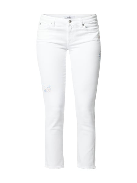 7 for all mankind Pyper Crop - Coloured Straight Fit Jeans Weiß