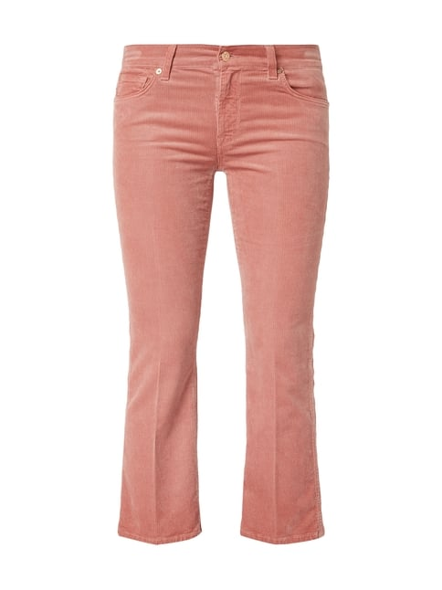 7 for all mankind Cropped 5-Pocket-Hose aus Cord Rosé - 1 ... 64f1d6eaa6