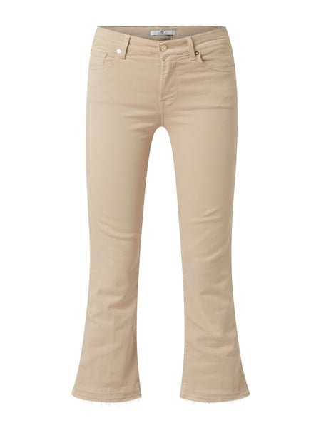 7 For All Mankind Cropped Boot Cut Jeans mit Stretch-Anteil Beige - 1