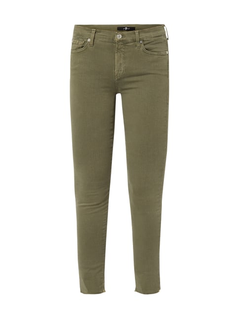 e76a855eb07b 7 for all mankind Cropped Coloured Skinny Fit Jeans Grün - 1 ...