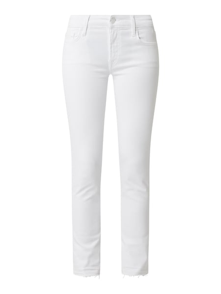 7 For All Mankind Cropped Jeans mit Stretch-Anteil Modell 'Pyper' Weiß - 1
