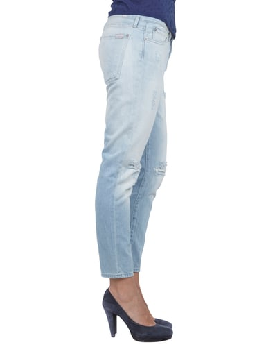 Loose Tapered Fit Destroyed Boyfriend Jeans 7 for all mankind online kaufen - 2