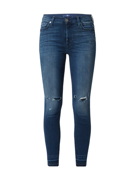 7 for all mankind High Waist Skinn - Skinny Fit Jeans im Destroyed Look Jeans