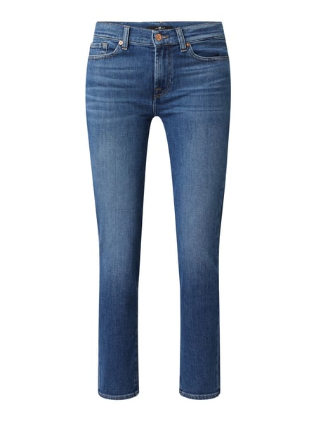 7 For All Mankind Slim fit jeans met borduursels, model 'Roxanne' Blauw - 1