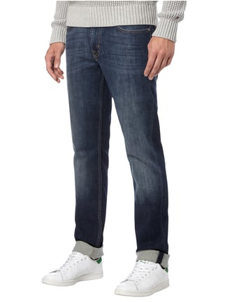 7 for all mankind Stone Washed Slim Fit Jeans Dunkelblau - 1