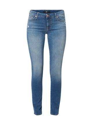 7 for all mankind Stone Washed Slim Fit Jeans Blau   Türkis - 1 ... 176fab2a48