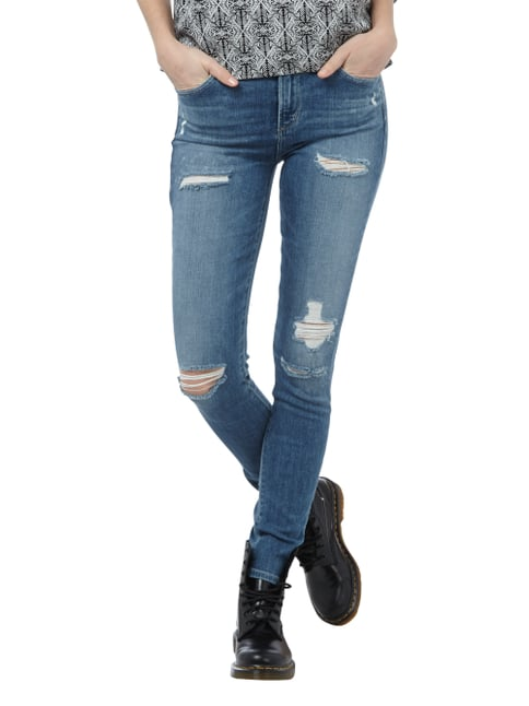 A Gold E Skinny Fit Jeans im Destroyed Look Blau - 1