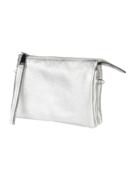Abro Clutch in Metallicoptik Silber - 1