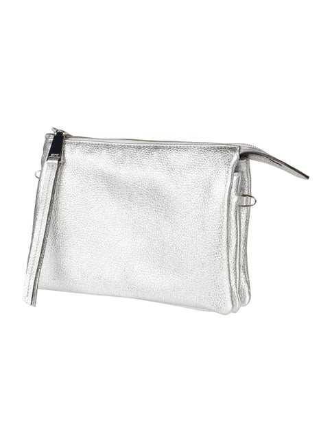 Clutch in Metallicoptik Grau / Schwarz - 1