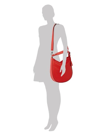 Abro Hobo Bag aus Leder in Rot - 1