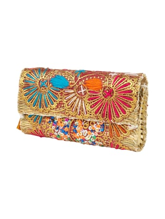 Abury Clutch mit Ornament-Applikationen Orange - 1