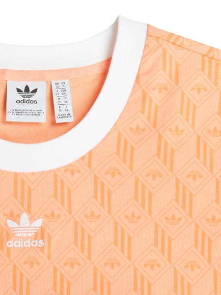 ADIDAS Cropped T Shirt mit Logo Muster in Rot online kaufen