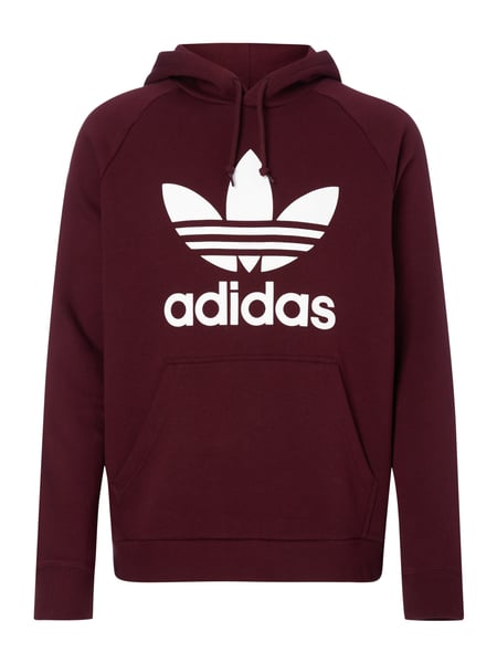 adidas originals hoodie mit logo print in rot online. Black Bedroom Furniture Sets. Home Design Ideas