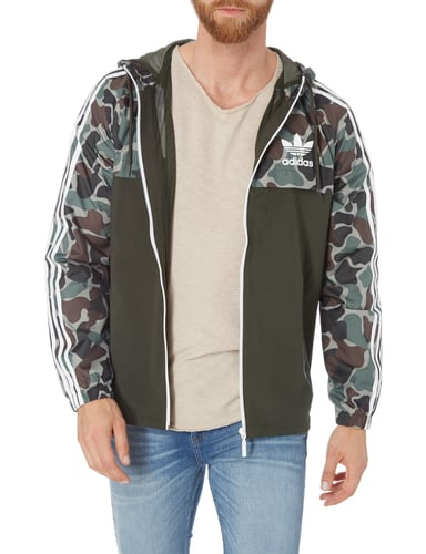 adidas originals jacke mit camouflage muster in gr n online kaufen 9667873 p c online shop. Black Bedroom Furniture Sets. Home Design Ideas