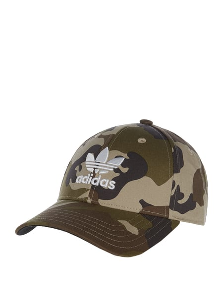 new product sports shoes the best ADIDAS Originals – Basecap mit Camouflage-Muster – Olivgrün