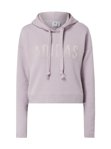 ADIDAS Originals Boxy Fit Hoodie mit Logo-Applikation Lila - 1