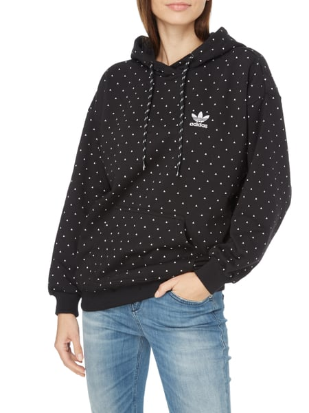 adidas originals hoodie mit allover muster in grau. Black Bedroom Furniture Sets. Home Design Ideas