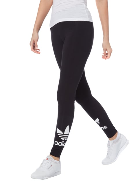 adidas Originals Leggings mit Logo-Print Schwarz - 1