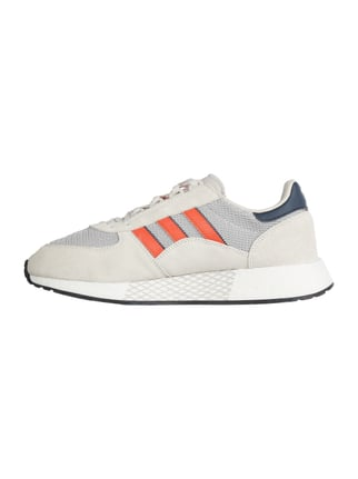 hohe Mode Adidas Originals 300 ii Leder schwarz orange