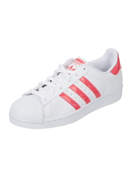 ADIDAS Originals Superstar J Fndt - Sneaker 'Superstar' mit feinen Perforierungen Pink