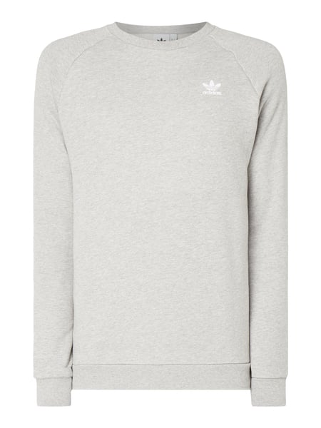 9464362aeb6a ADIDAS-ORIGINALS Sweatshirt mit Logo-Stickerei in Grau   Schwarz ...