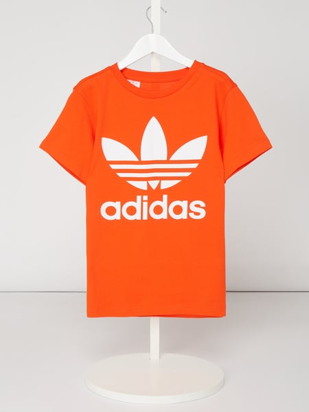 ADIDAS Originals T-Shirt mit gummiertem Logo-Print Orange - 1