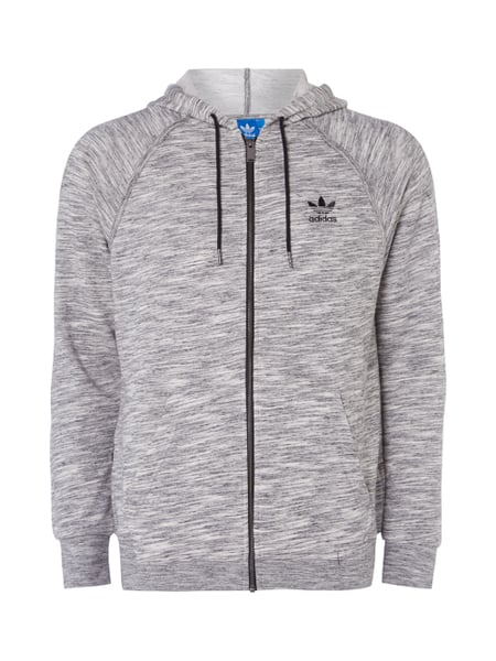 ADIDAS-ORIGINALS Sweatjacke mit Logo-Stickerei - meliert in ...