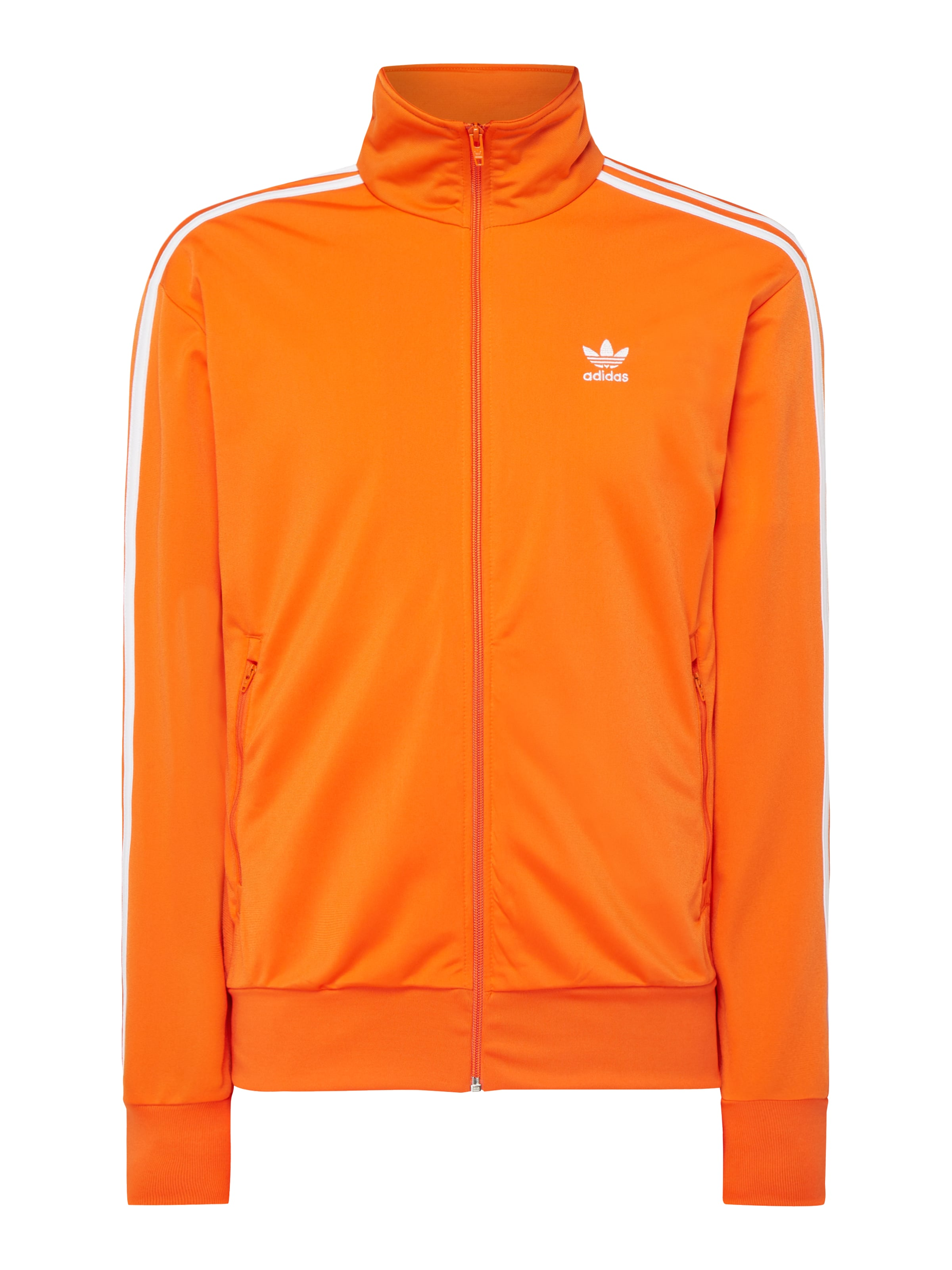 ADIDAS Originals Slim Fit Sweatjacke mit Logo Streifen in