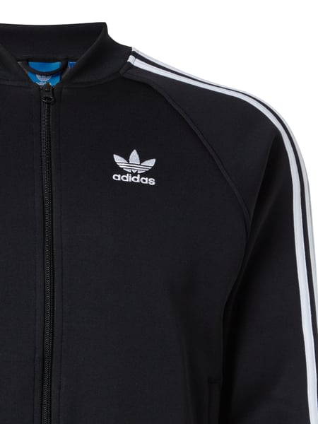 adidas originals sweatjacke mit logo streifen in grau schwarz online kaufen 9503939 p c. Black Bedroom Furniture Sets. Home Design Ideas