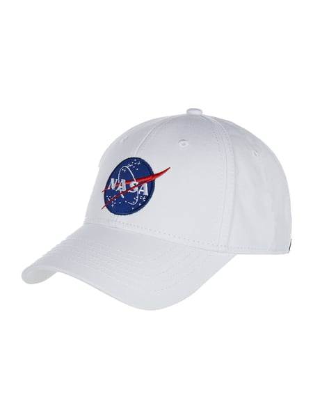 Alpha Industries Basecap mit NASA-Patch Weiß - 1