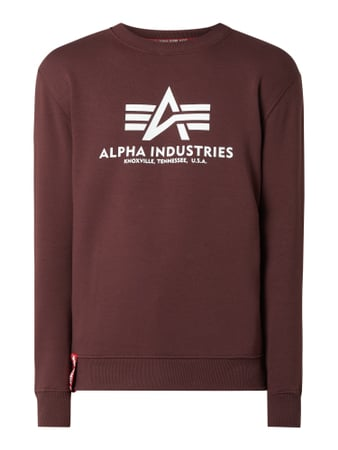 Alpha Industries 'BASIC SWEATER' mit Logo-Print Rot - 1