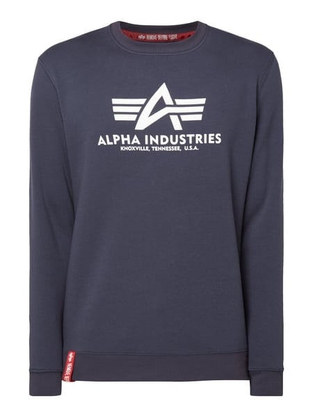 Alpha Industries 'BASIC SWEATER' mit Logo-Print Marineblau